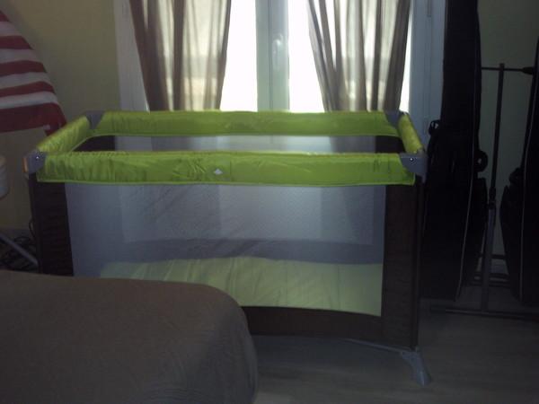 La chambre vert/marron